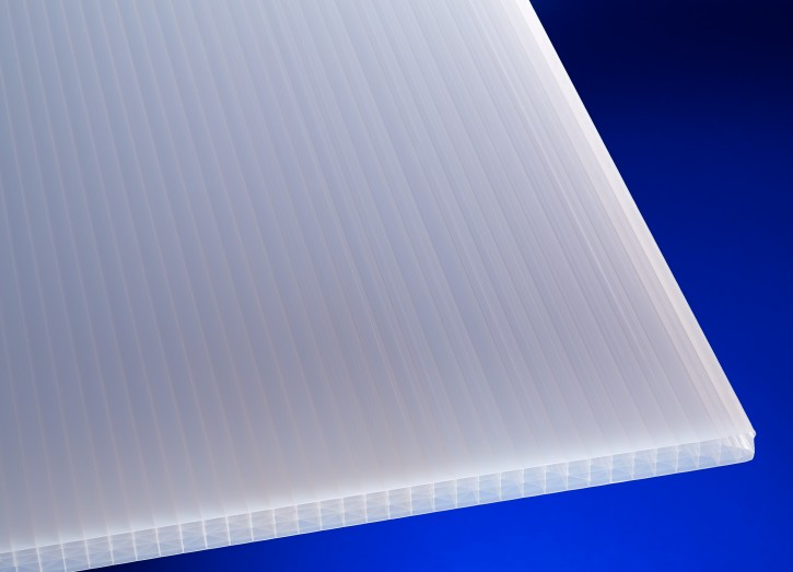 Stegplatte 25mm Sun opal weiß, Polycarbonat