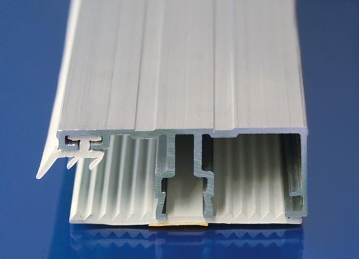 Aluminium System mit Weichgummi, Randprofil