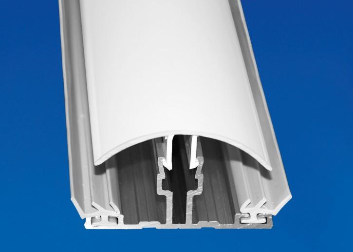 Aluminium System Mittelprofil mit PVC Deckel