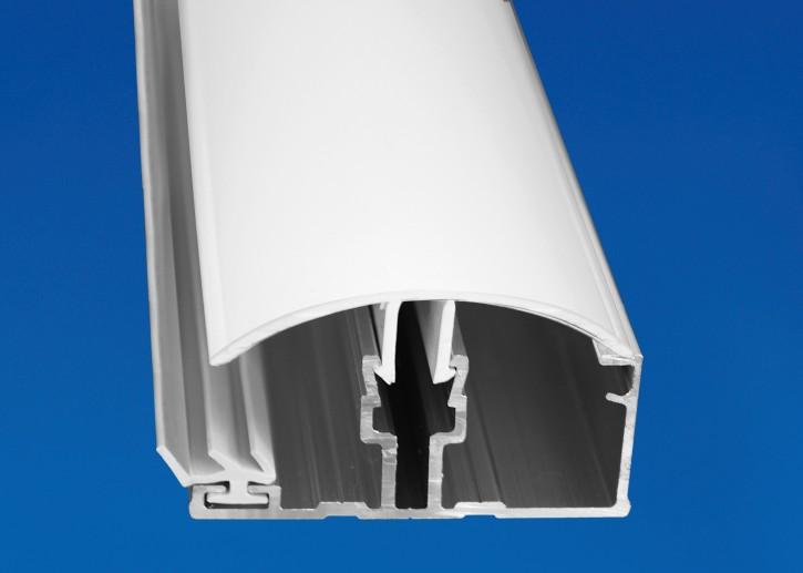 Aluminium System Randprofil mit PVC Deckel