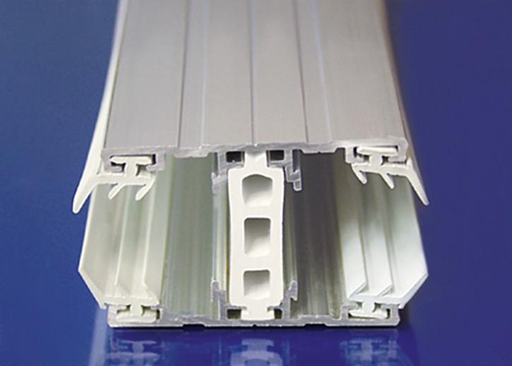 Aluminium Komplettsystem f. thermische Trennung, Mittelprofil