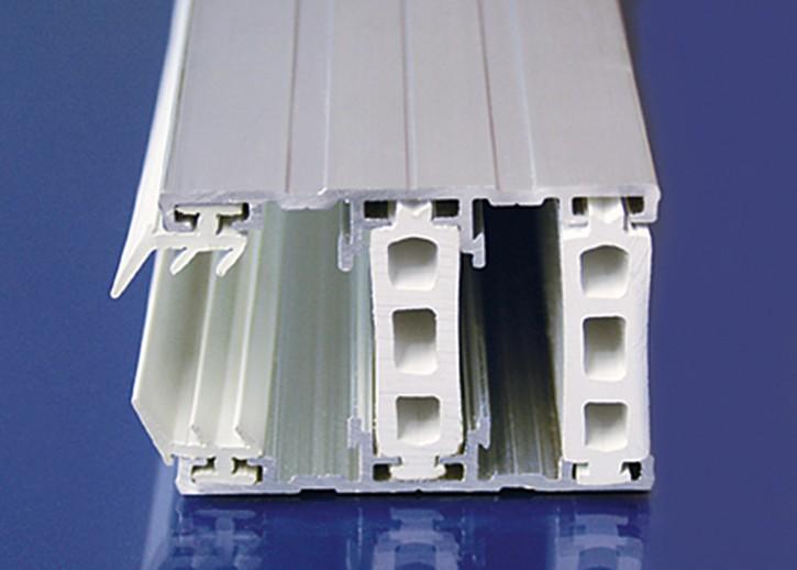 Aluminium Komplettsystem f. thermische Trennung, Randprofil