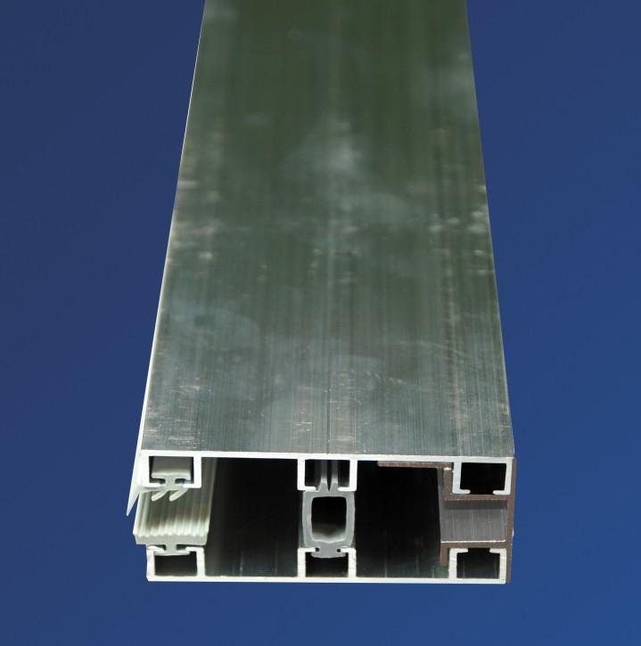 Alu-Glasprofilsystem für 8mm, 80mm breit, Randprofil