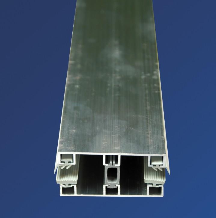 Alu-Glasprofilsystem für 8mm, 60mm breit, Mittelprofil