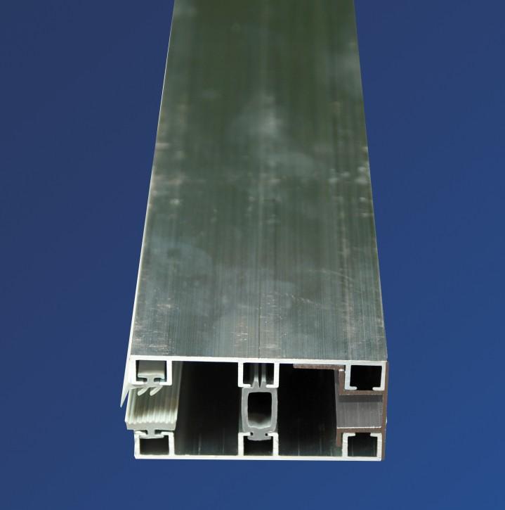 Alu-Glasprofilsystem für 8mm, 60mm breit, Randprofil