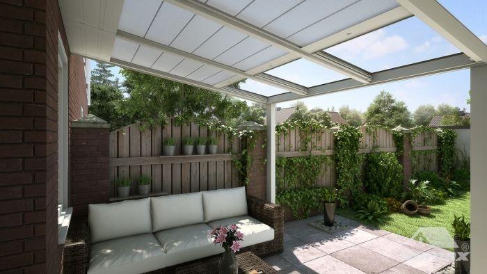 Gumax® automatischer Sonnenschutz creme Breite 3,06m