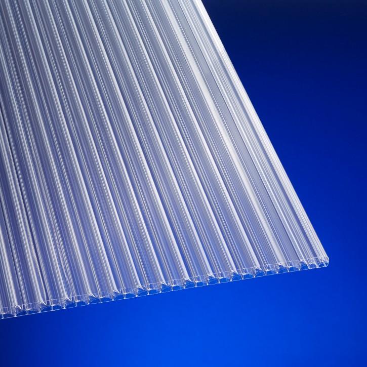 Stegplatte 16mm X-Struktur klar, Komplettprofil