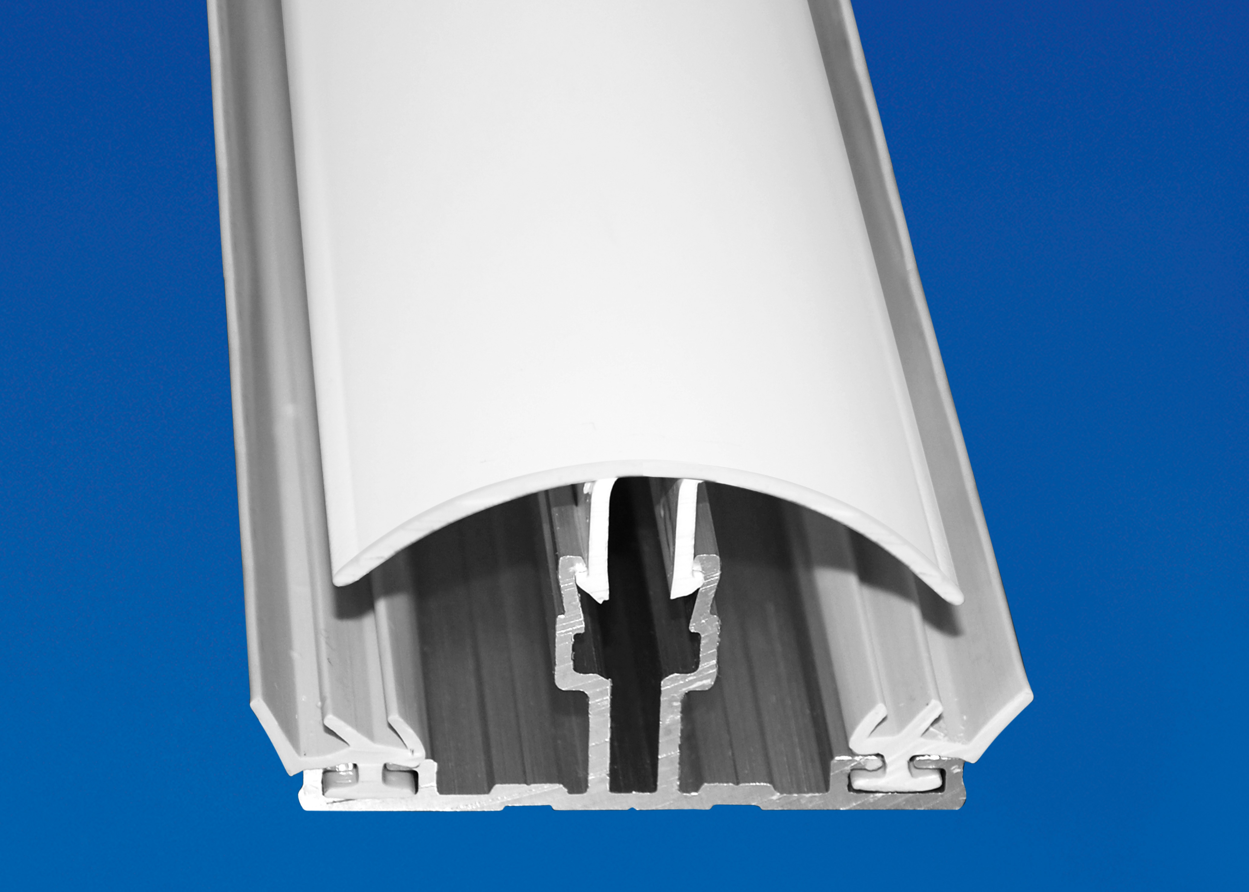 Polycarbonat Stegplatten Hohlkammerplatten X-Struktur klar light 16 mm 2500 x 980 x 16 mm